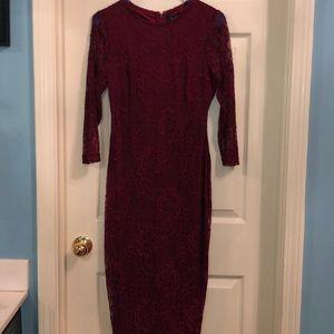 Cranberry lace dress